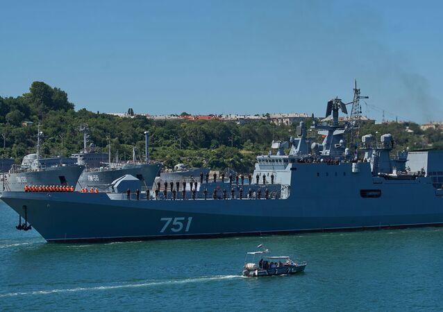 عودة فرقاطة تابعة لأسطول البحر الأسود من سوريا