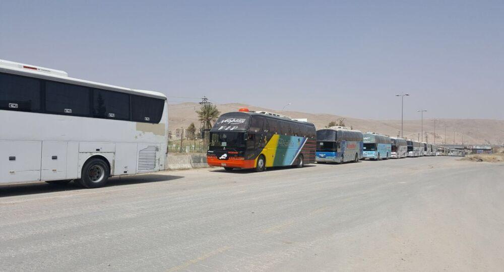حافلات نقل المسلحين في سوريا