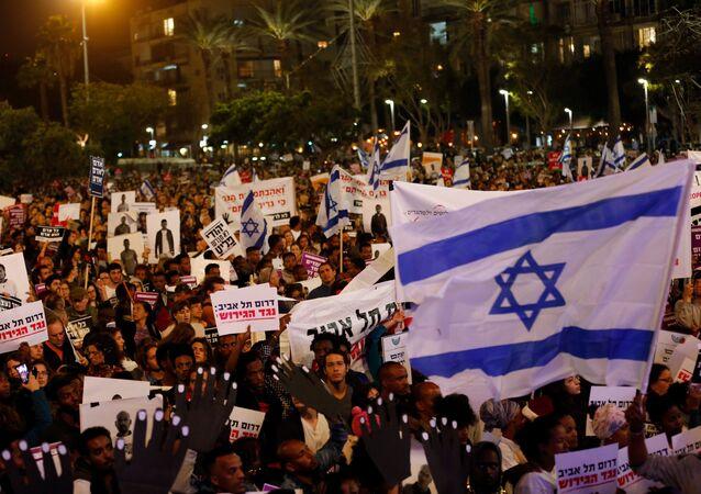 مظاهرات في تل أبيب