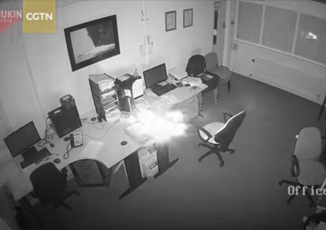 انفجار هائل لجهاز محمول