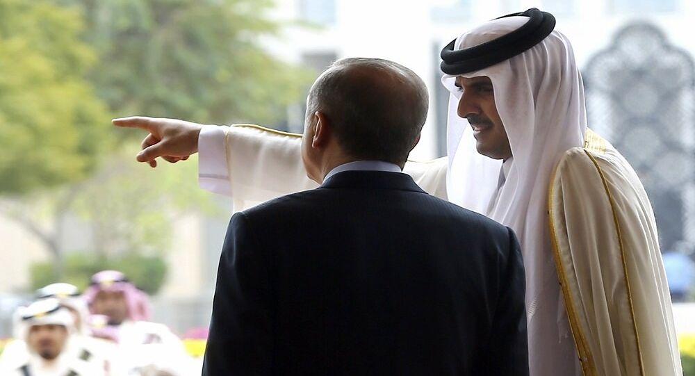 أمير قطر تميم بن حمد آل ثاني مع الرئيس التركي رجب طيب أردوغان