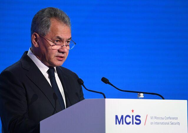 وزير الدفاع الروسي سيرغي  شويغو  في مؤتمر الامن الدولي
