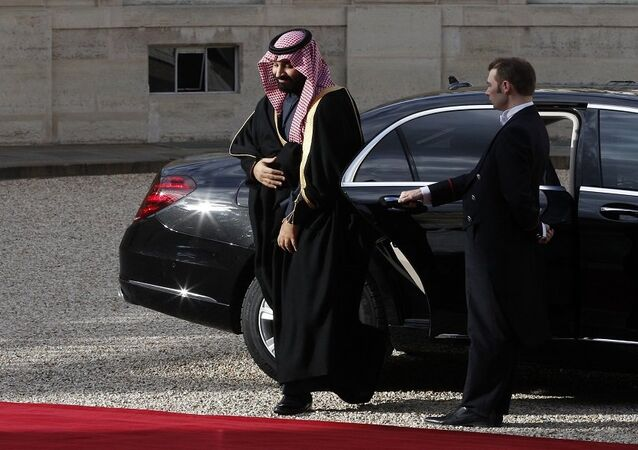محمد بن سلمان أثناء زيارته إلى فرنسا