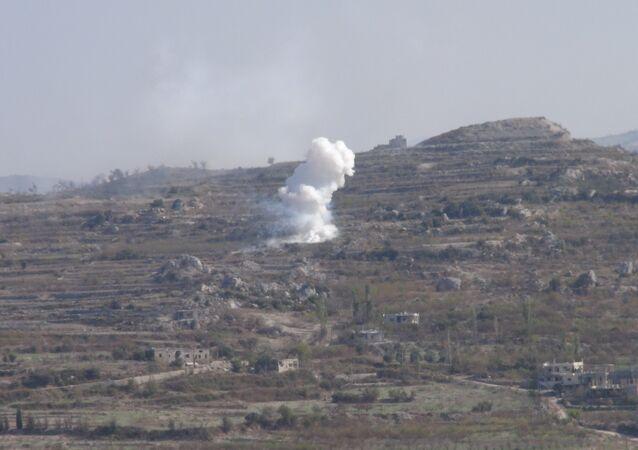 نيران الجيش السوري تطال عربات إطلاق الصواريخ على ريف اللاذقية