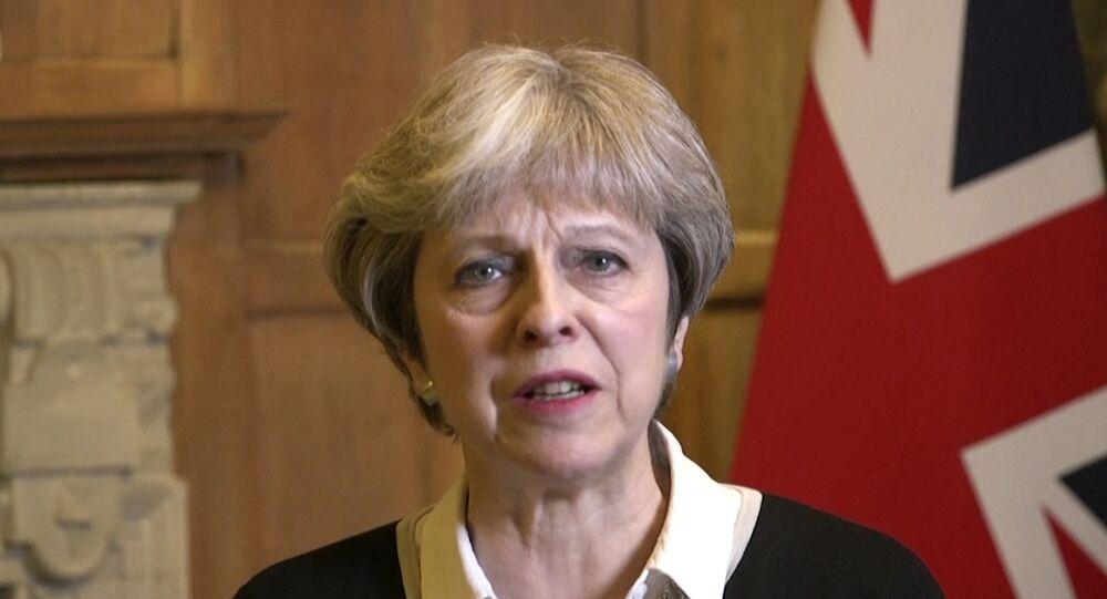 رئيسة الوزراء البريطانية تيريزا ماي، لندن 13 أبريل/ نيسان 2018