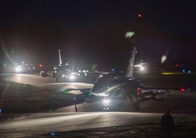 التحالف الثلاثي - الطيران العسكري الفرنسي يستعد للضربة الجوية ضد سوريا، قبرص، 13 أبريل/ نيسان 2018