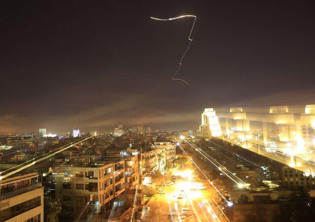 التحالف الثلاثي - ضربة هجومية لـ الولايات المتحدة للضربة ضد دمشق، سوريا 14أبريل/ نيسان 2018