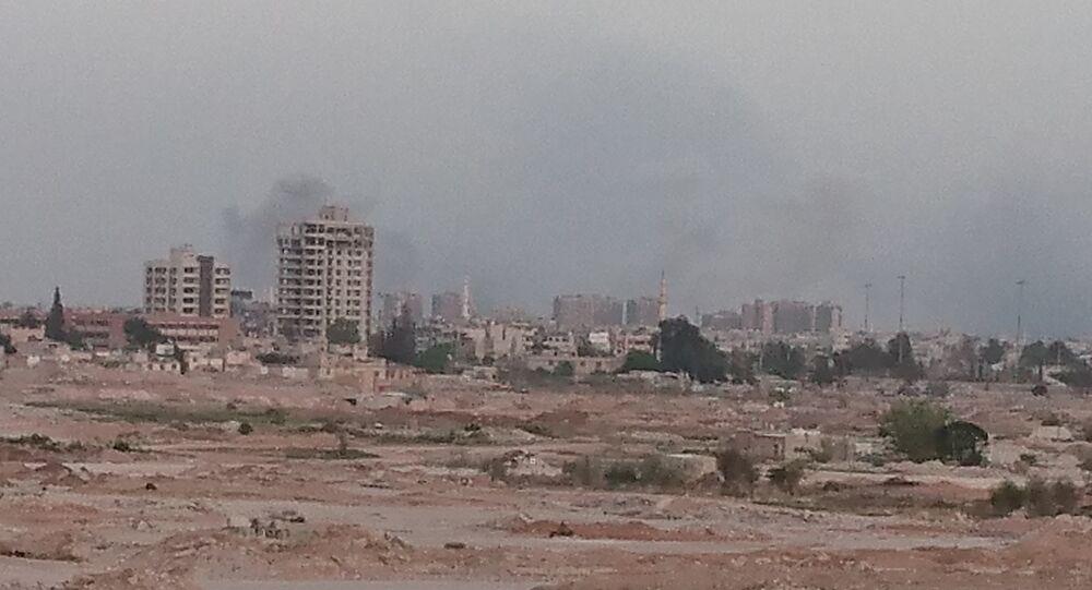 الطيران السوري يدك مواقع داعش جنوبي دمشق