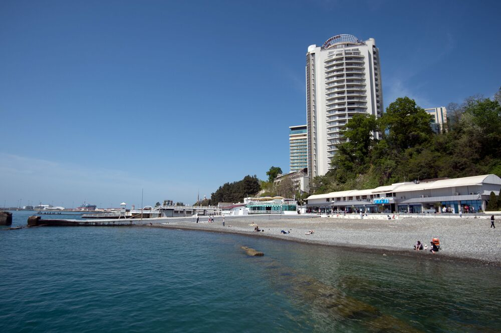 شاطئ في مدينة سوتشي