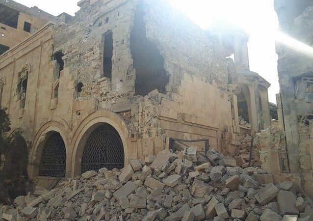 كنيسة شهداء الأرمن التي دمّرها تنظيم داعش الإرهابي