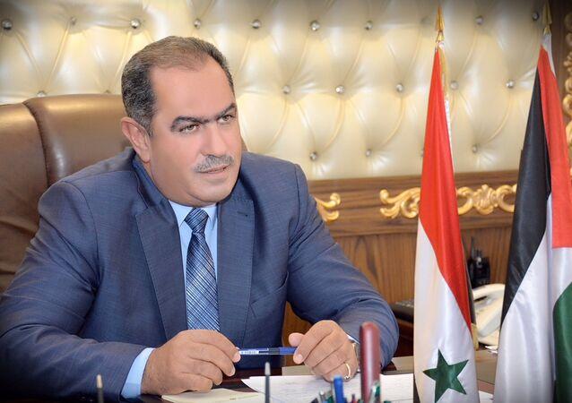 جمال القادري رئيس الاتحاد العام لنقابات العمال في سوريا