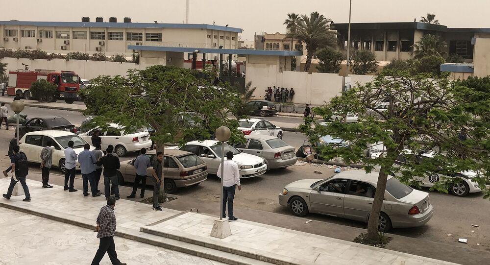 الهجوم الإرهابي على مقر مفوضية الانتخابات، بالعاصمة الليبية طرابلس