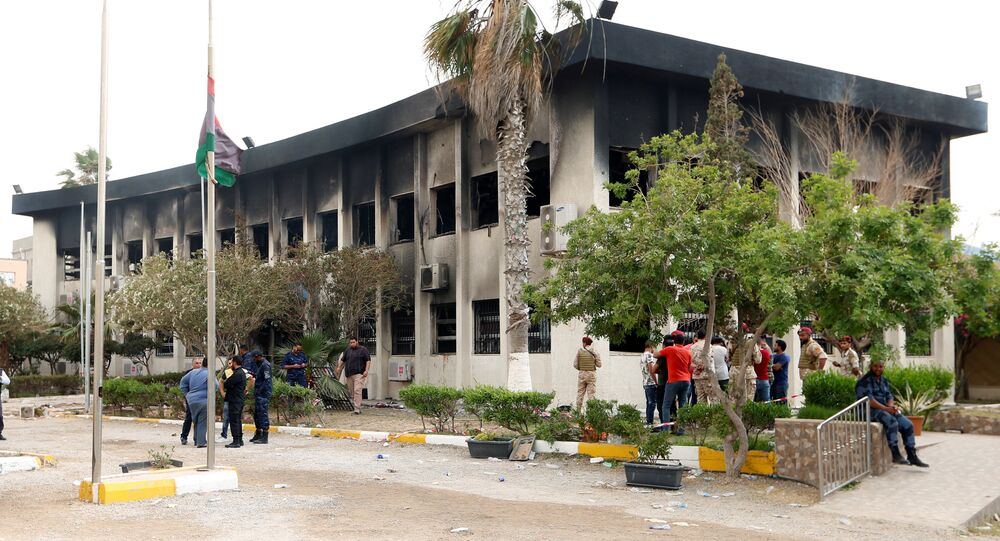 الهجوم على مفوضية الانتخابات الليبية
