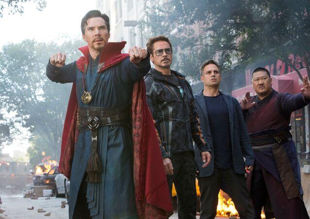مشهد من فيلم Avengers: Infinity War