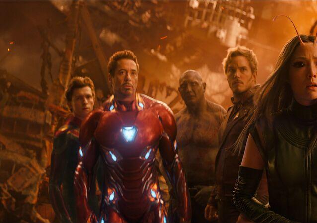 مشهد من فيلمAvengers: Infinity War