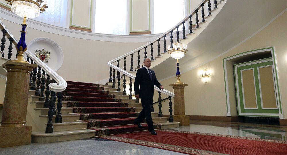 مراسم تنصيب فلاديمير بوتين رئيسا لروسيا، الكرملين، موسكو، روسيا 7 مايو/ أيار 2018