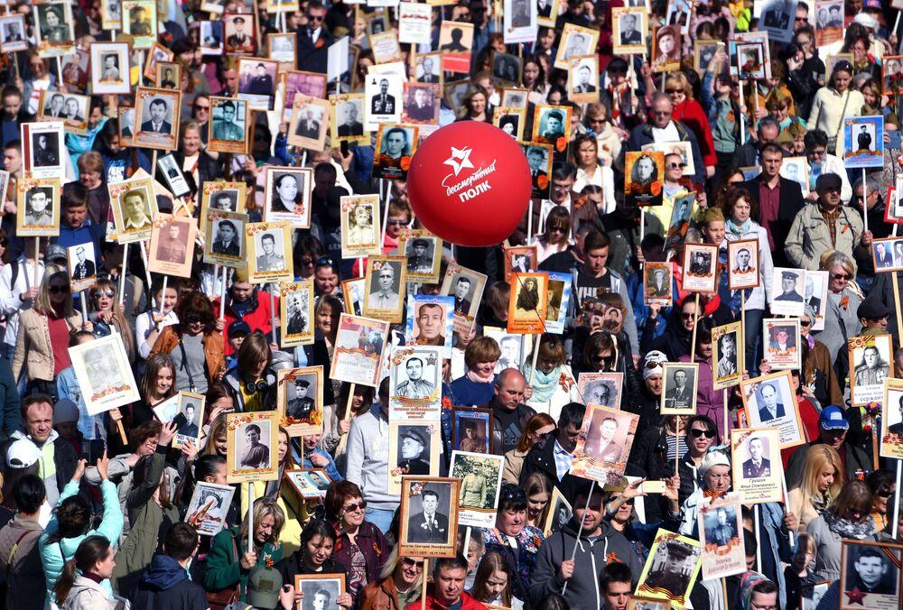 مسيرة الفوج الخالد في قازان، 9 مايو/ أيار 2018
