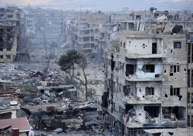 الوضع في مخيم اليرموك للاجئين الفلسطينيين في ريف دمشق، سوريا
