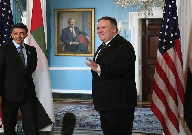 وزيري الخارجية الأمريكي والإماراتي في واشنطن
