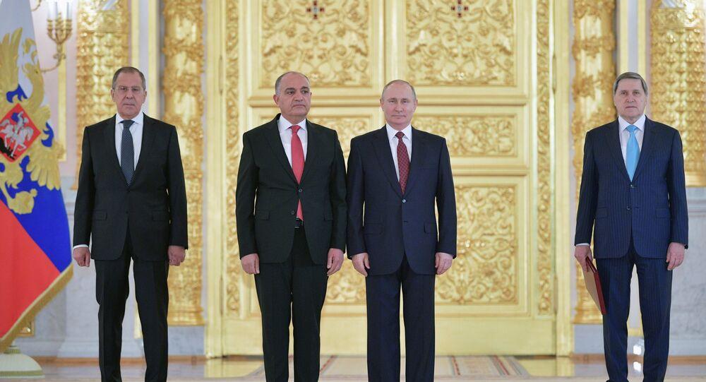 السفير الاردن لدى موسكو أمجد العضايلة