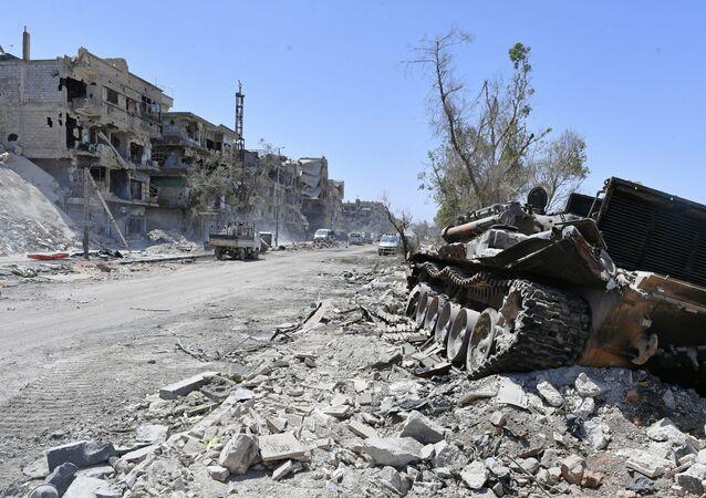 مخيم اليرموك بعد التحرير، جنوب دمشق، سوريا