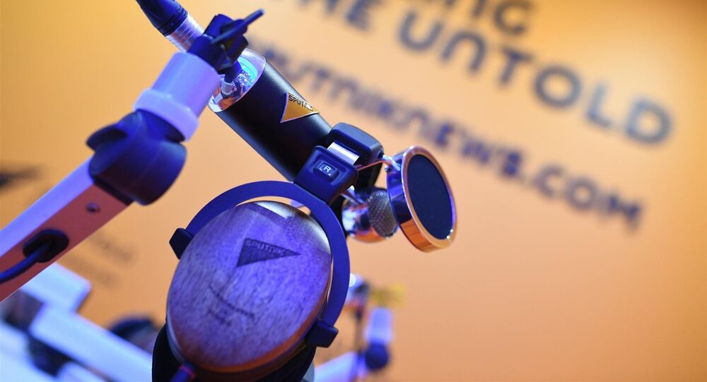 جناح وكالة الأنباء والإذاعة الدولية سبوتنيك في منتدى سان بطرسبورغ الاقتصادي الدولي 2018 (24-26 مايو/ أيار)