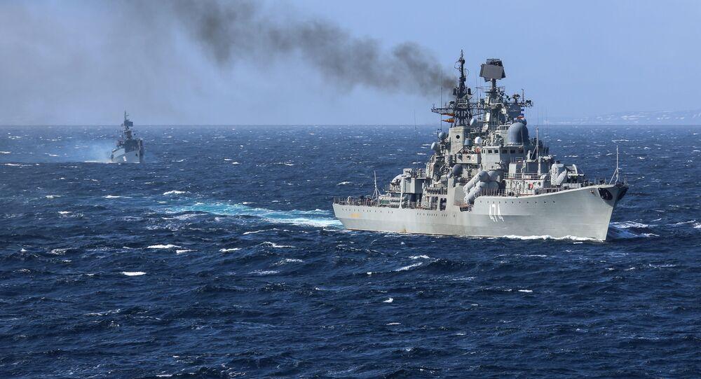 المناورات البحرية كومجا - 2018 في بحر بارنتس