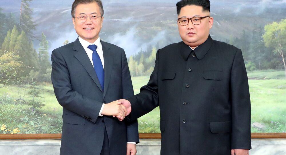 زعيمي كوريا الجنوبية وكوريا الشمالية