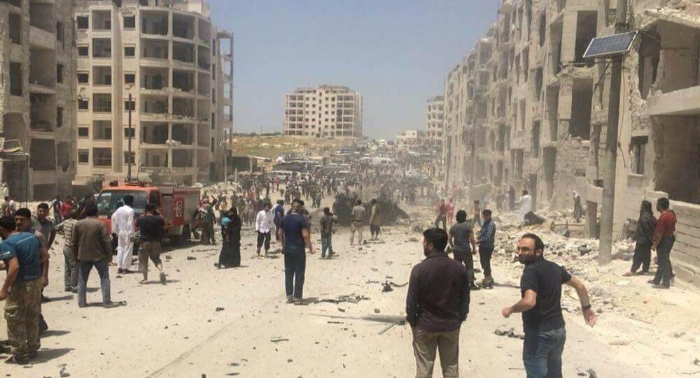 انفجار يستهدف الصينيين والأوزبك في إدلب