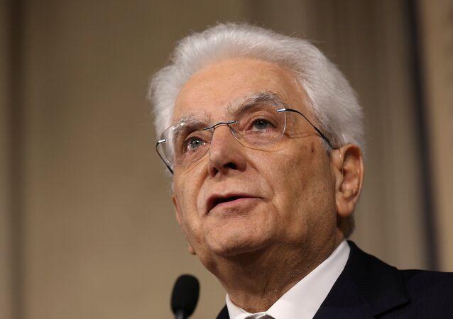 الرئيس الإيطالي سيرجيو ماتاريلا