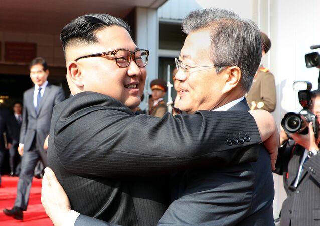 اللقاء الثاني لزعيم كوريا الشمالية كيم جونغ أون ورئيس كوريا الجنوية مون جاي إن، 26 مايو/ أيار 2018