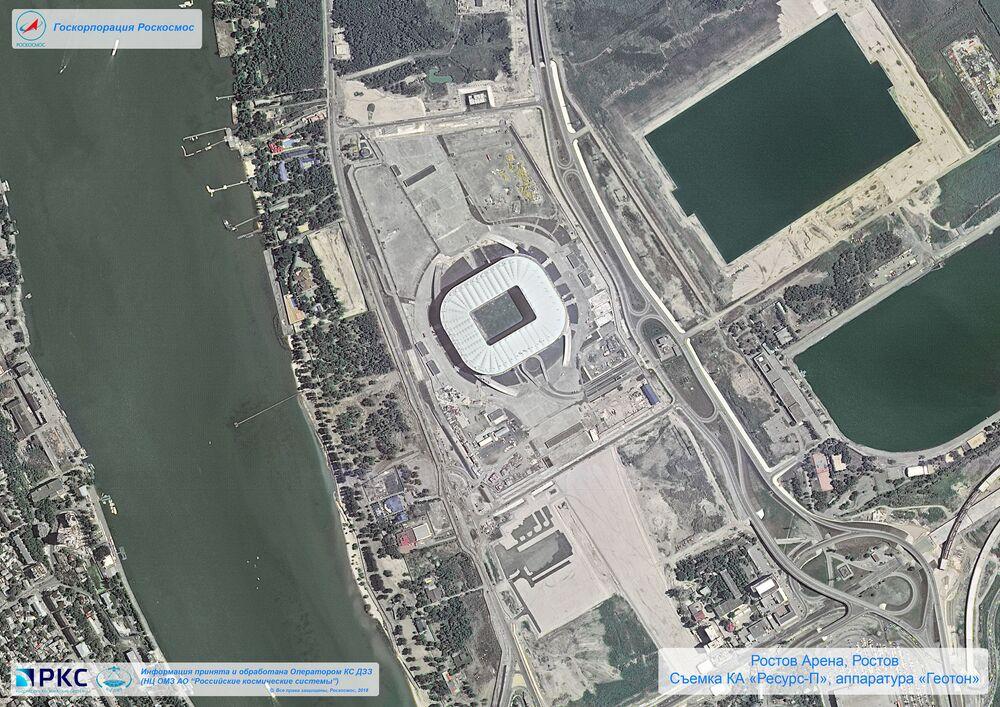 ملعب روستوف أرينا أحد ملاعب كأس العالم 2018 من المركبة الفضائية الروسية  Resurs-P