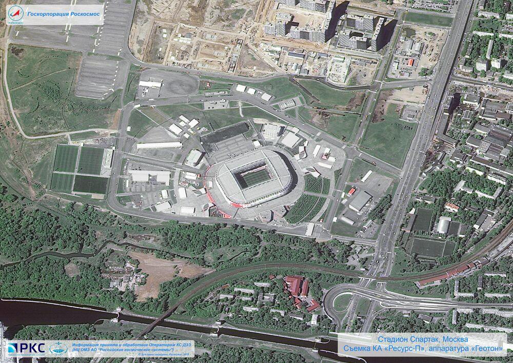ملعب قازان أرينا أحد ملاعب كأس العالم 2018 من المركبة الفضائية الروسية  Resurs-P