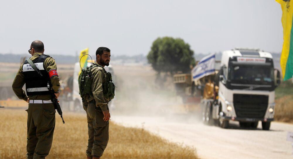الجيش الإسرائيلي على الحدود مع غزة