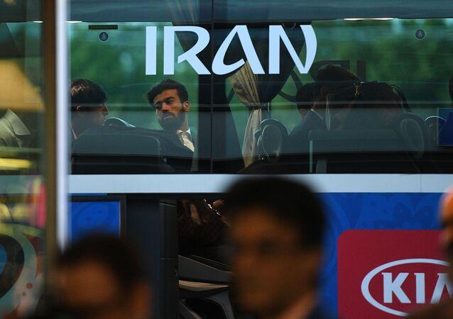 استقبال المنتخب الإيراني في مطار فنوكوفو بموسكو، كأس العالم لكرة القدم فيفا 2018