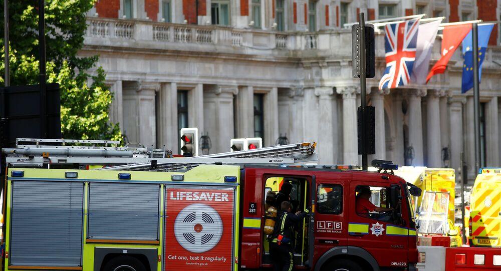 حريق بفندق مندرين أورينتال وسط العاصمة لندن