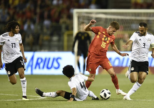 مباراة بلجيكا و مصر الودية