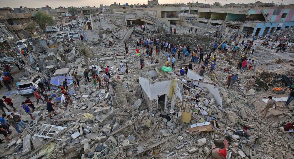 تداعيات انفجار بغداد، العراق 7 يونيو/ حزيران 2018