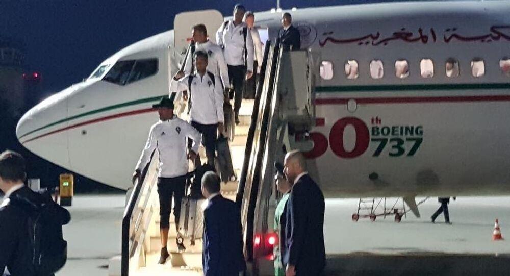 وصول بعثة المنتخب المغربي