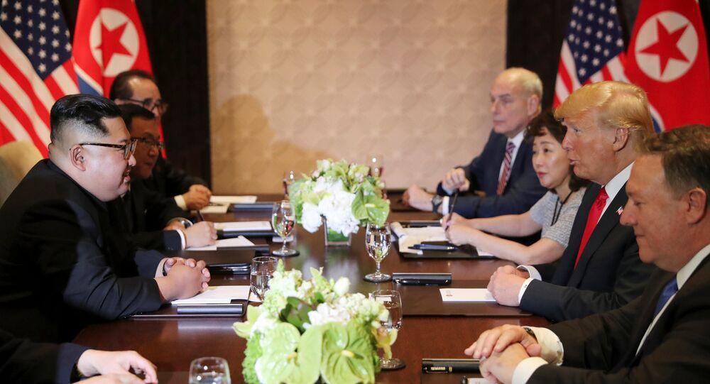 الاجتماع الموسع في قمة ترامب وكيم جونغ أون