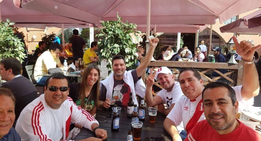 مشجعون من بيرو في موسكو، كأس العالم 2018، روسيا