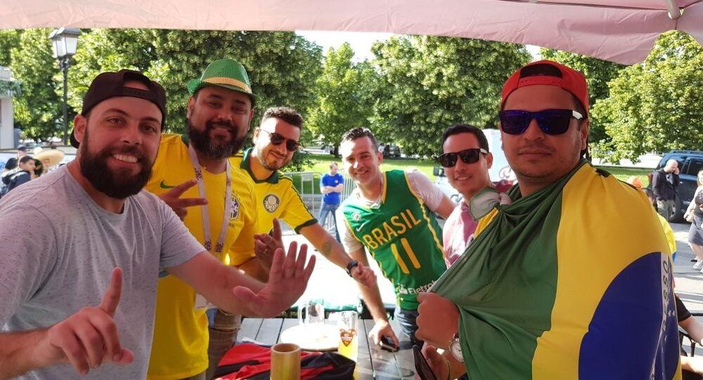 مشجعون من البرازيل في موسكو، كأس العالم 2018، روسيا
