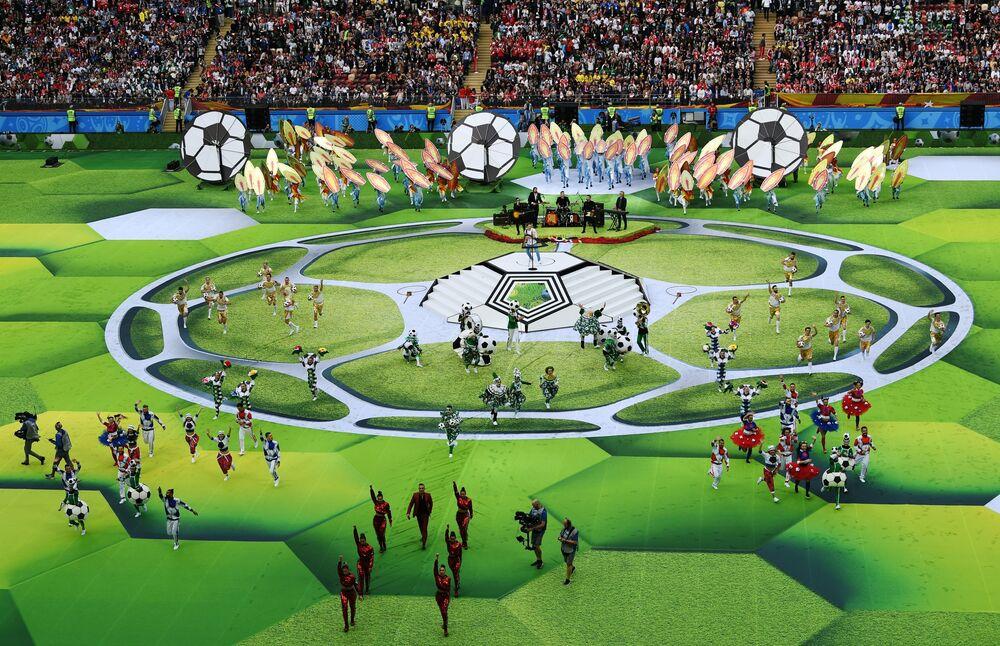 مراسم افتتاح كأس العالم فيفا روسيا 2018 في ملعب لوجنيكي، موسكو