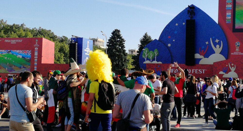 أجواء مباريات كأس العالم من العاصمة الروسية موسكو