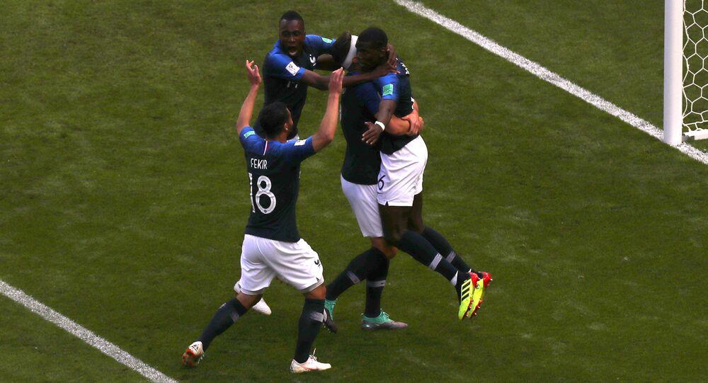 إحراز المنتخب الفرنسي هدفا في المباراة مع أستراليا