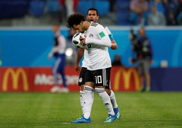لاعب المنتخب المصري محمد صلاح