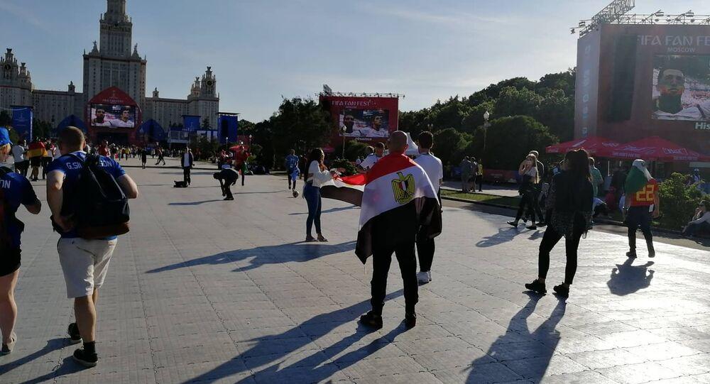 المشجعين المصريين في روسيا