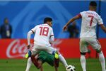 منتخب المغرب أمام المنتخب الإيراني في بطولة كأس العالم 2018 في روسيا