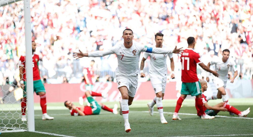 مباراة المغرب والبرتغال - كريستيانو رونالدو