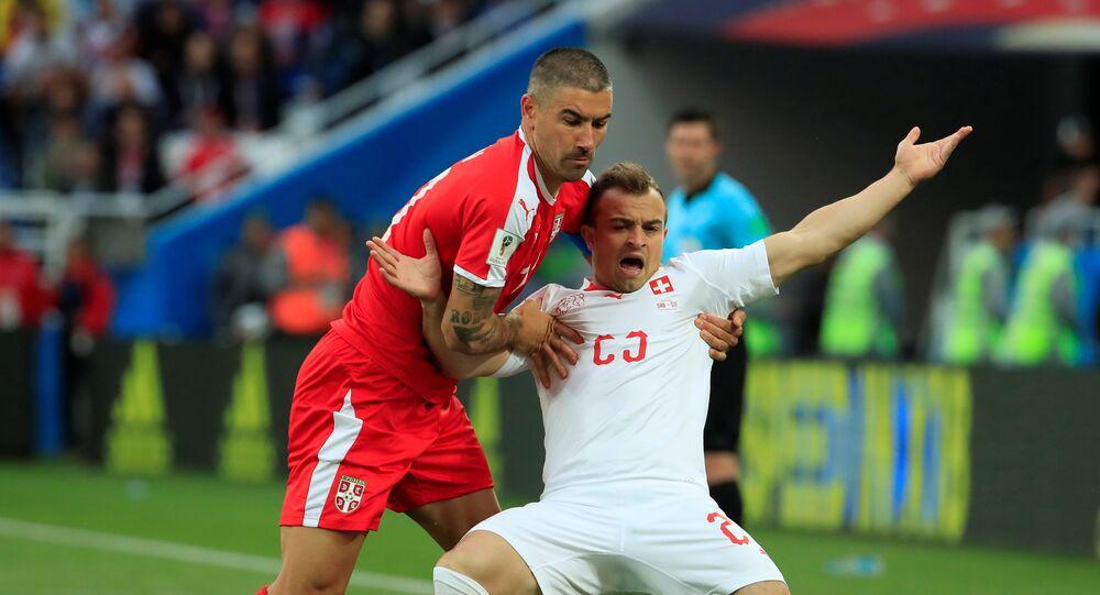 مباراة صربيا وسويسرا